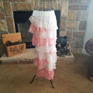 SHARON TANG Polka Dot Ruffle Skirt